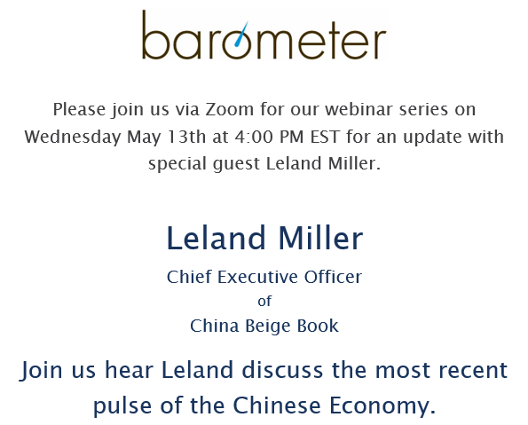 Weekly Webinar Series with Special Guest Leland Miller – Wednesday May 13th at 4PM EST